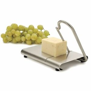 Cheese board and slicer cutter stainless steel serving board