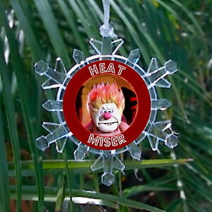 Heat Miser Snowflake Colored Blinking Light Holiday Christmas Tree Ornament
