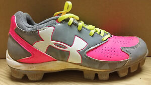 UNDER ARMOUR CLEATS * 1264181-065 *GRAYPNK * WOMEN * 8.5 *BARGAIN PRICE $29.95!