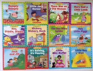 Nursery Rhyme Childrens Books Beginning Readers Lot 12