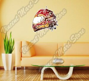 Sportbike Motorcycle Helmet Biker Bike Wall Sticker Room Interior Decor 22