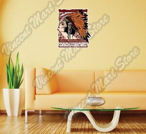 Native American Chief Indian Girl Gift Wall Sticker Room Interior Decor 20