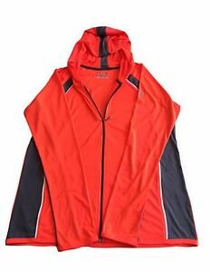 Under Armour Women's Bean Orange Loose Heat Gear Hooded Top M L XL