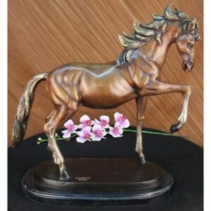 Horse Lovers Real Bronze Horses Numbered Sculpture Statue Equestrian Deco $399.00