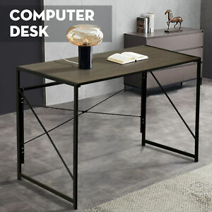 Wood Computer Desk PC Laptop Table Workstation Study Home Office Furniture Brown