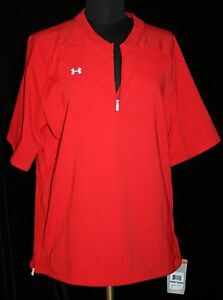 Womens NWT Under Armour Sz XL Allseason Gear Softball Loose Fit Top Shirt Red