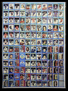 1979-80 O-Pee-Chee uncut sheet with Mint Wayne Gretzky Rookie Card - RARE!