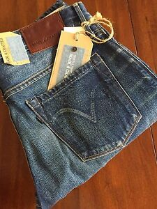 MADE & CRAFTED LEVI'S RULER STRAIGHT TRAVELINGBLUES MEDIUM INDIGO (W30-34) $ 278
