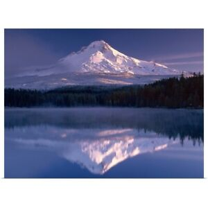 Mt. Hood I Poster Art Print Mountain Home Decor