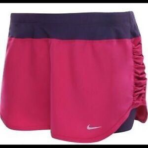NWT Nike Women Dri-Fit Running Skort Tennis Compression Shorts Extra Large Pink