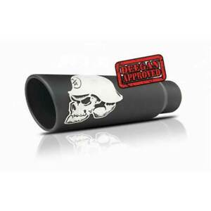 Gibson 4quot; 8quot; Metal Mulisha Rolled Edge Angle Black Exhaust Tip 18quot; Length $238.14