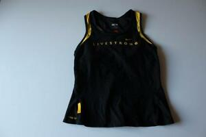A4877 Womens NIKE FIT DRY+ BlackYellow LIVESTRONG Athletic Tank Top Shirt SMALL