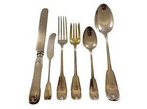 Palm by Tiffany Sterling Silver Flatware Service Set 51 Pieces