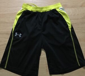 Under Armour Shorts Youth Small Black And Yellow $18.00