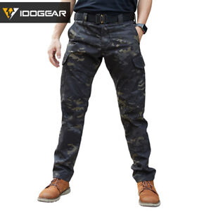 IDOGEAR CP Field Tactical Pants Camo Trousers Airsoft Military Duty MultiCam