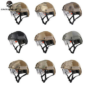 Emerson FAST Helmet with Protective Goggles Tactical Airsoft Sports Duty MH 8820