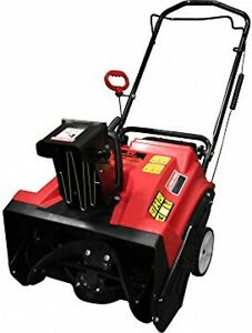 Warrior Tools WR67436 Gas Powered Single Stage Snow Thrower 20-Inch Red