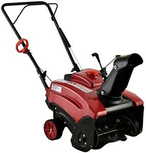 Amico Power 18-inch 87cc Single-Stage Electric Start Gas Snow BlowerThrower