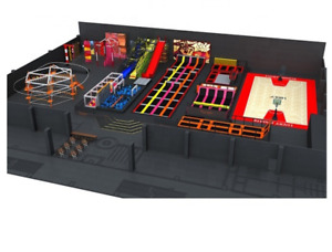 30500 sqft Commercial Turnkey Trampoline Park Sky Rider Playground We Finance