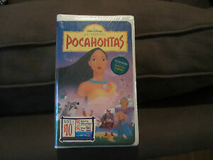 Pocahontas Disney VHS 1996 NEW Factory Sealed Masterpiece Collection!