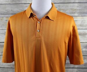 NEW Nike Fit Dry Tiger Woods TW Drop Needle Golf Polo Shirt MENS XL Orange