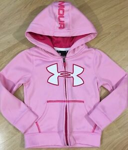 Under Armour Hoodie Baby Toddler Size 3T Pink And White