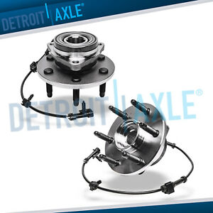 2 Front Wheel Bearing and Hub Set for GMC Sierra Silverado 1500 Tahoe Yukon 4WD