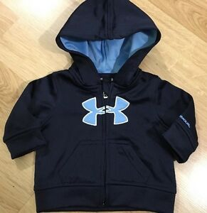 Under Armour Hoodie Baby Toddler Size 0-3 Months Baby Blue And Navy Blue
