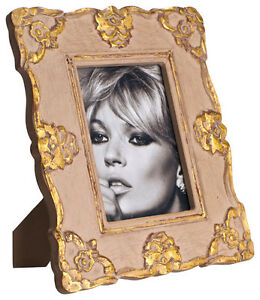 Abigails 5x7 Wood Picture Frame Gray Gold