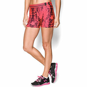 Under Armour Women's HeatGear Armour Printed Shorty - pink - size: S