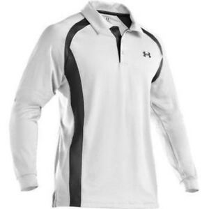 Under Armour Flurry Cold Gear Long Sleeve Golf Shirt - white - Size: XXL