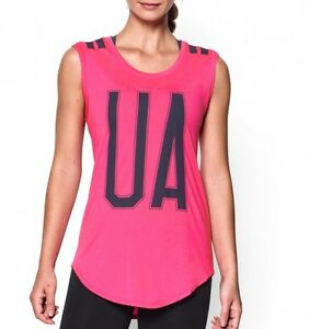 Under Armour Women's UA Big Stripe T-Shirt - pink - size S