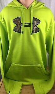 NEW Mens XLT Under Armour Storm Hoodie Sweatshirt Loose Camo Green  XL TALL NWT