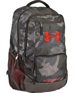 Under Armour Graphite Storm Hustle II Backpack  Black One Size