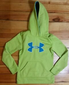 UNDER ARMOUR Loose Lime Green Hoodie Sweater Youth Girl's Size Small