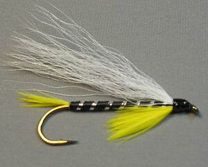 Black Ghost Bucktail Streamer Trout Fly Sizes 4 6 and 8