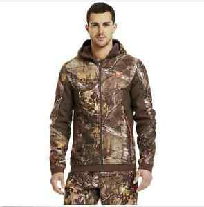 NWT Mens Under Armour Mens Ayton Camo Hoodie Jacket Storm  1238322-946 M