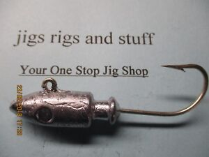 spirepoint jig heads lead heads   Un-painted raw  12oz to 20oz tinned hooks