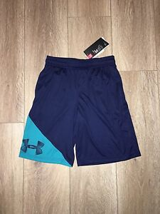 NEW Boys Under Armour Shorts Navy and Teal Size Medium