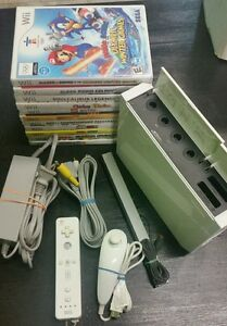 Nintendo Wii White Console with 2 Games Tested Gamecube Compatible