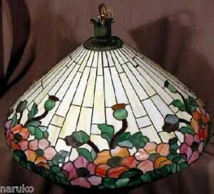 VERY LARGE LEADED STAINED GLASS WILKINSON SHADE SHADE 29