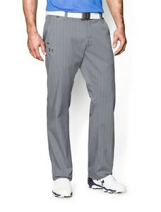 Under Armour 1248091-036 UA Golf Tips Gray Striped Pants Mens Size 34x30