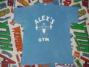 VINTAGE RUSSELL SOUTHERN T-SHIRT ALEX'S GM CHAMPION RUNNING MAN 50'S 60'S XL
