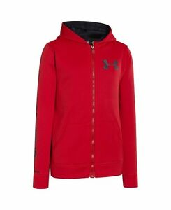 Under Armour 1248848 600 UA Storm Armour Fleece MagZip Hoodie Youth Kids Sz XL