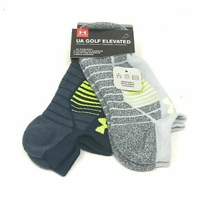 Under Armour GOLF Elevated Performance No Show Socks 2 Pack SIZE LARGE $11.99