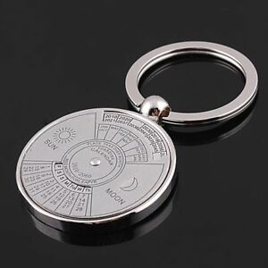From Silver Creative 2010 To 2060 Keychain Perpetual Calendar 50 Years Keyring
