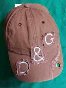 Dolce & Gabbana Brown with Gray Embroidery Fashion Hat Cap 100% Cotton