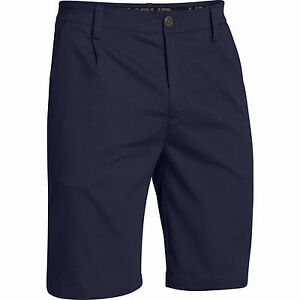 Under Armour UA Men's Pleated Performance Shorts Midnight Navy Size 34R NWT