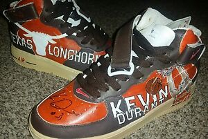 11 AUTO KEVIN DURANT 2007 SIGNED SHOES- HAND PAINTED MASTERPIECE! AIR FORCE 1's
