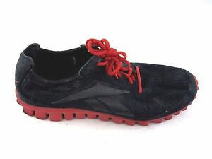 Reebok black red running shoes mens tennis running athletic shoes Sz 9.5D